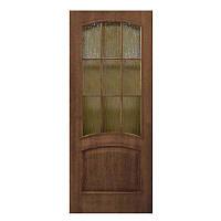 Двери межкомнатные Капри орех, полотно остекленное