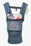 """Кенгурушка эргономичный рюкзак-переноска для детей """"Цветочная геометрия"""" , фото 1"""