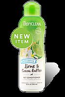 Tropiclean  Lime & Cocoa Conditioner кондиционер увлажняющий для собак и котов 355 мл (202535)