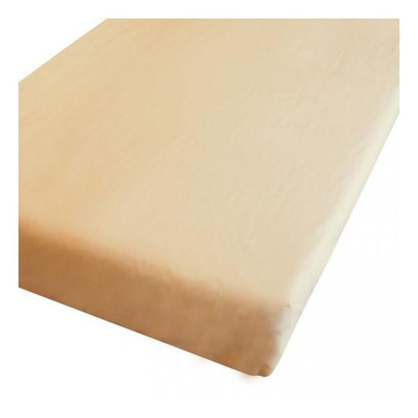Простынь на резинке Бежевая, бязь (60*120*12 см)