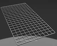 Хромированная торговая сетка 1200/600мм ячейка 50мм