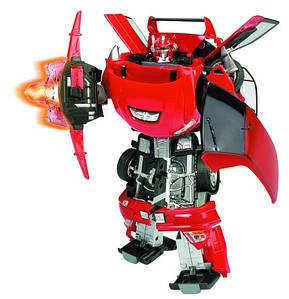 Трансформер 50100. Автомобиль-трансформер, детализированный, +свет, +звук, 6+, батарейки в комплекте.