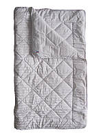 Шерстяное одеяло евро, Полоса сатин (195х215 см.)