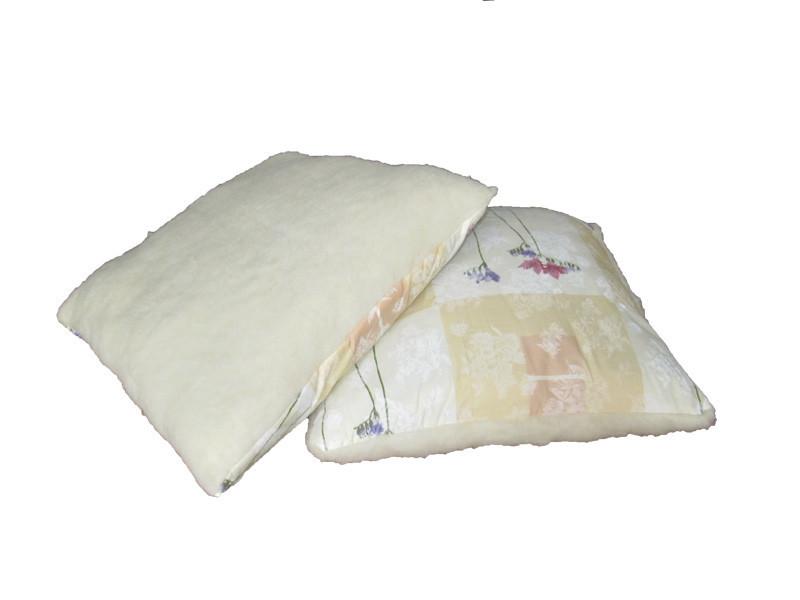 Меховая подушка, силиконовый наполнитель, бязь Квадрат (50х50 см.)