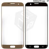 Стекло корпуса для Samsung Galaxy S7 EDGE G935F, золотистое, оригинал