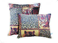 Подушка силиконовая, бязь, Тигр (60х60 см.)