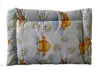 Подушка детская силиконовая, Мишки-пчелки (бязь, хлопок 100%)