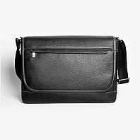 Кожаная мужская сумка Issa Hara B5 черная