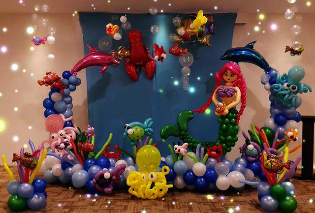 Оформление шарами детских праздников