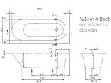 Квариловая ванна Villeroy&Boch Oberon 180 UBQ180OBE2V-01, 1800х800х625 мм, фото 4