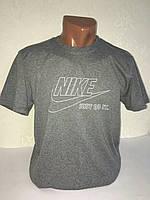 """Серая мужская футболка 100% хлопок """"Nike"""" с логотипом  ФМ-8"""