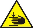 """Знак """"Осторожно! Возможно травмирование рук"""""""