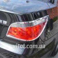 Накладка хром BMW 5-E60 2004 задние фонари