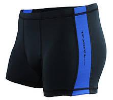 Плавки мужские для купания с защитой от хлора Radical Shoal, черные с синим