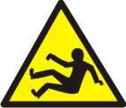 """Знак """"Обережно! Можливе падіння"""""""