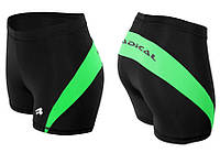 Спортивные шорты женские Radical Flexy, термошорты, черные с салатовым