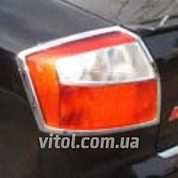 Накладка хром AUDI. A4 2002 задние фары