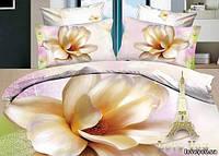 Комплект постельного белья полуторное  3d сатин Love you  Пышность