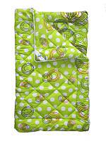 Шерстяное одеяло двуспальное, Салатовый горох (175х215 см.)