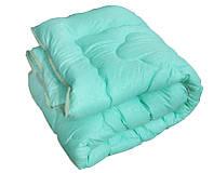 Одеяло двуспальное, силиконовое из микрофибры Салатовое Облако (175х215 см.)