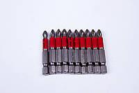 Биты для отвёрток и шуруповёртов Рекос (Россия) PH2 L-70 мм 10 штук/набор (блистер)