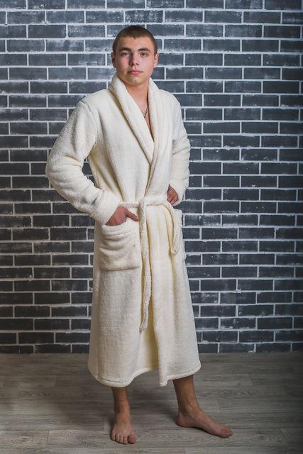 Халат мужской махровый, банный