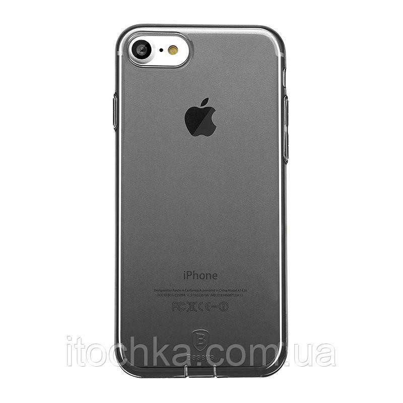 Чехол - накладка Baseus Simple Series Case for iphone 7 Transparante Black mat