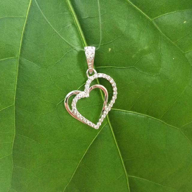 Серебряный кулон сердце фото 1
