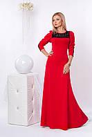 Нарядное женское красное длинное платье макси р.42,44