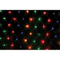 Светодиодная Сетка 160 led-кристалл, прозрачный провод, разные цвета, Харьков, фото 1