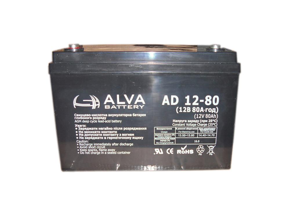 Аккумуляторная батарея,(12V80AH).Модель-AD12-80