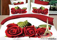 Семейный комплект постельного белья love you 3d из сатина