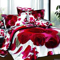 Комплект постельного белья 3d сатин Love you семейный размер Праздник