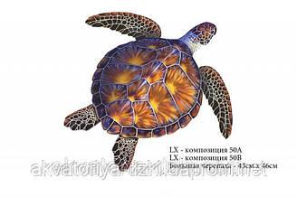Большая черепаха, 50х50см, цвет - коричневый