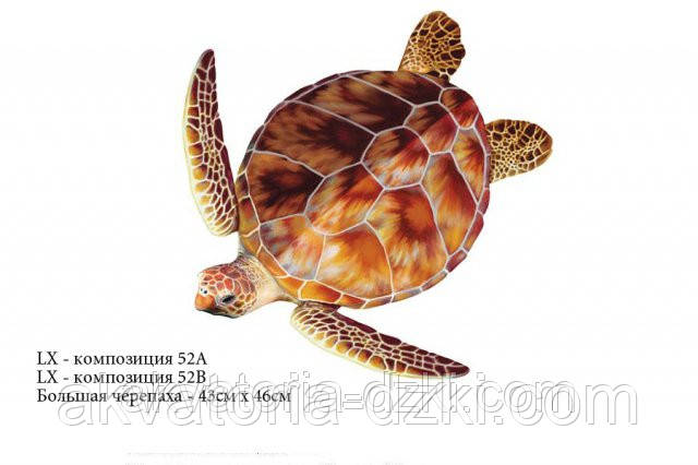 Большая черепаха, 50смх50см, цвет светло-коричневый