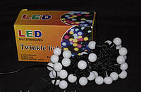 Светодиодная гирлянда Шары, 40 LED, белый свет, фото 1