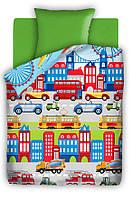 Детское постельное белье Автопарк 1,5-спальный  ТМ Непоседа,100% хлопок