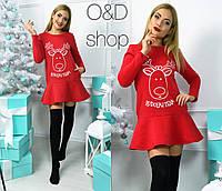 Женское платье -туника со смешным рисунком у-27032330