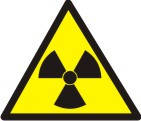 """Знак """"Осторожно! Радиоактивные вещества или ионизирующее излучение"""""""