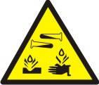"""Знак """"Обережно! Їдкі та корозійні речовини"""""""