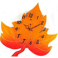 Часы настенные Лист Клёна желтый