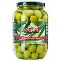 Оливки зеленые с косточкой  Сorbi 835g, Испания