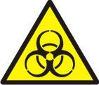 """Знак """"Обережно! Біологічна небезпека. (Інфекційні речовини)"""""""