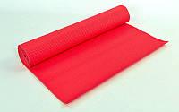Йога коврик красный