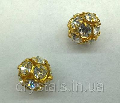 Стразовая бусина Preciosa (Чехия) Crystal