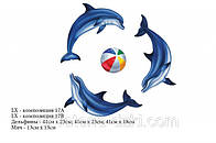 Дельфины и мяч. Композиция из 3 шт. по 41см