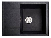 Мойка кухонная Оптима, цвет - чёрный (ДхШхГ-650х510х200)