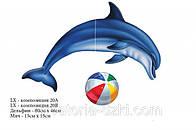Наклейка Дельфин и мяч. Аппликация 80 см