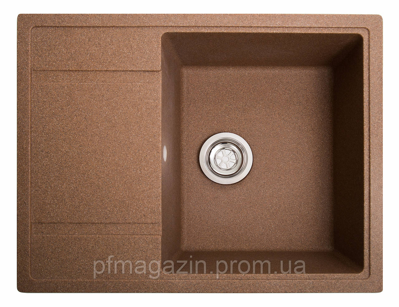 Мойка кухонная Solid Оптима, терракот (ДхШхГ-650х510х200)