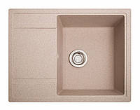 Мойка кухонная Оптима, цвет - розовый (ДхШхГ-650х510х200)